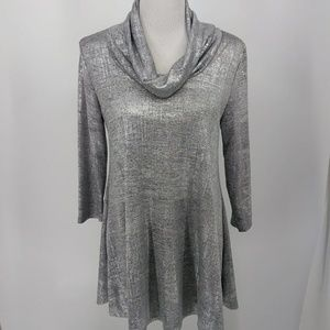 New Chelsea Theodore Small Tunic Blouse Silver